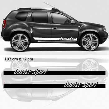 Car side Dacia Duster Sport stripes stickers set