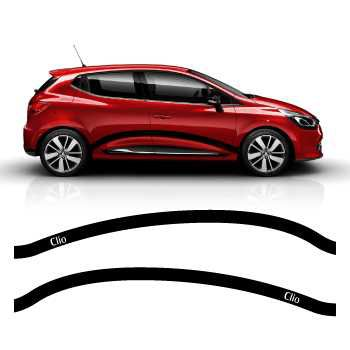 Car side Renault Clio 2013 - 2014 stripes stickers set