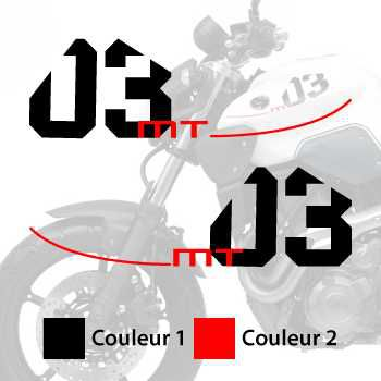 Yamaha MT-03 decals set