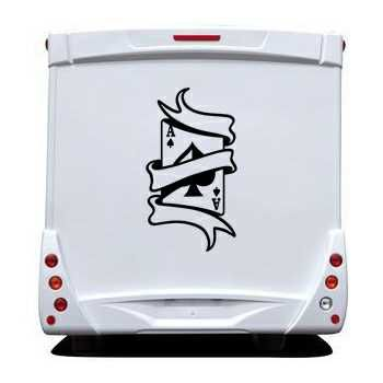 Ace of Spades Camping Car Decal