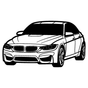 BMW serie 4 silhouette Decal