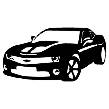 Chevrolet Camaro silhouette Decal