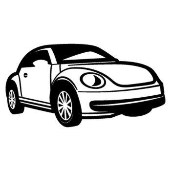 Sticker Volkswagen Beetle Silhouette