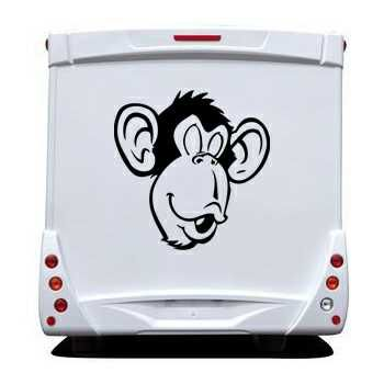 Monkey face Camping Car Decal