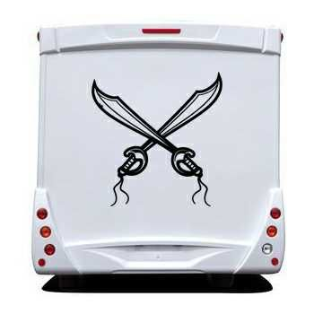 Pirate swords Camping Car Decal