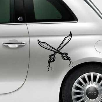 Pirate swords Fiat 500 Decal