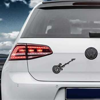 Tribal guitar silhouette Volkswagen MK Golf Decal