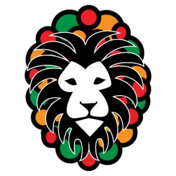 Sticker Lion Rasta