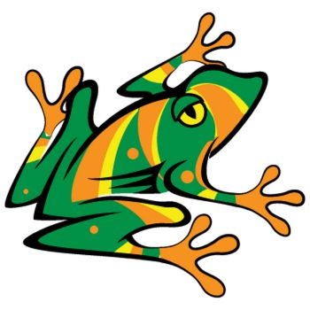 Colorful Frog Decal