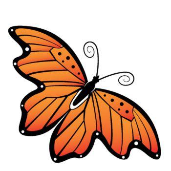 Sticker Papillon Orange