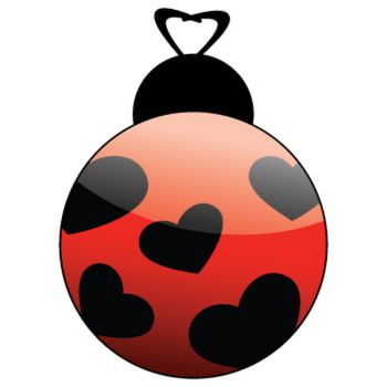 Ladybug with small hearts Decal