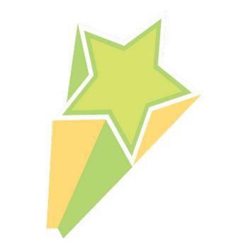 Sticker Étoile Verte et Jaune