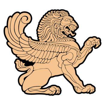 Sticker Lion Bouclier