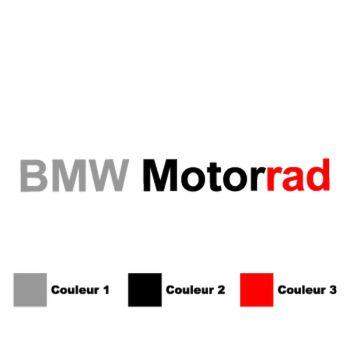 Stickers Moto BMW Motorrad en 3 Couleurs à Personnaliser