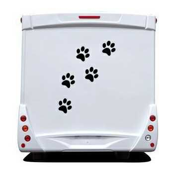 Sticker Pattes de Chat Camping Car
