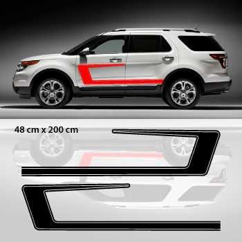 Kit Stickers Déco Portières Ford Explorer