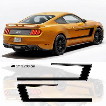 Kit Stickers Déco Portières Auto Style Ford Mustang