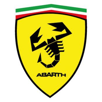 Ferrari logo Abarth name Decal