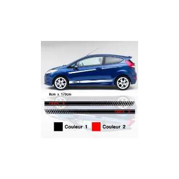 Ford Fiesta S car side stripes decals set