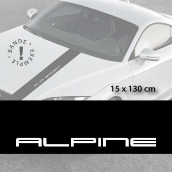 Alpine car hood decal strip