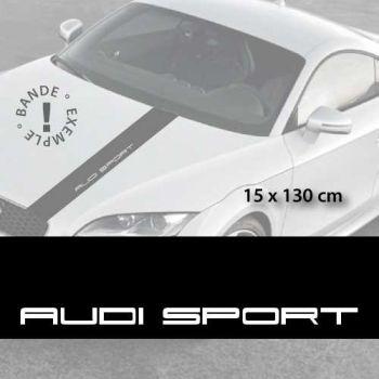 Audi Sport car hood decal strip