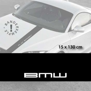 BMW car hood decal strip