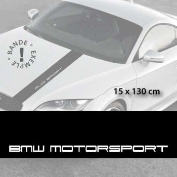 BMW Motorsport car hood decal strip