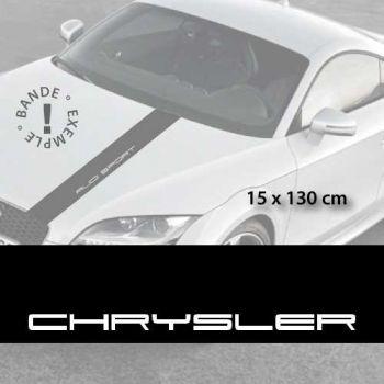 Chrysler car hood decal strip