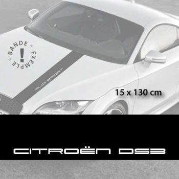 Citroën DS3 car hood decal strip