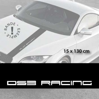 Citroën DS3 Racing car hood decal strip