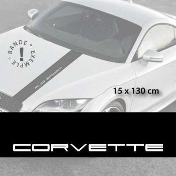 Stickers bandes autocollantes Capot Corvette