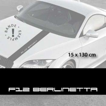 Ferrari F12 Berlinetta car hood decal strip