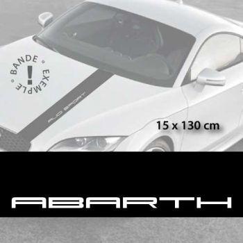 Fiat Abarth car hood decal strip