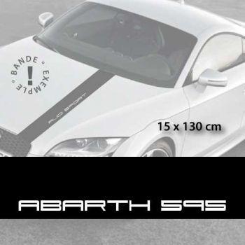 Fiat Abarth 595 car hood decal strip