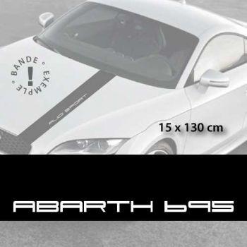 Fiat Abarth 695 car hood decal strip