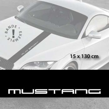 Stickers bandes autocollantes Capot Ford Mustang