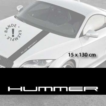 Hummer car hood decal strip