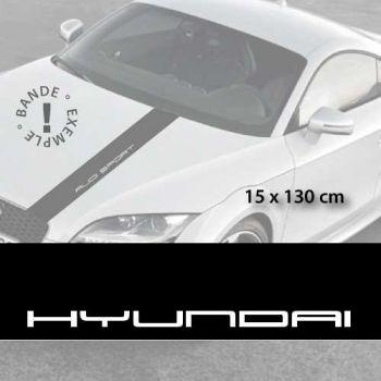 Hyundai car hood decal strip