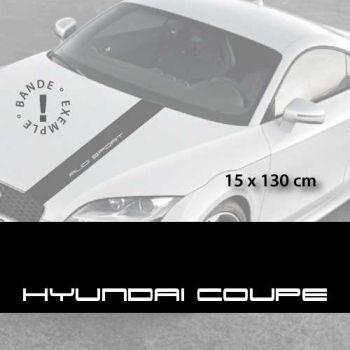 Hyundai Coupé car hood decal strip
