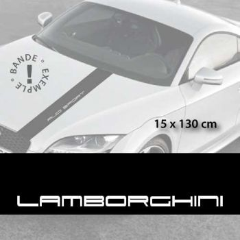 Lamborghini car hood decal strip