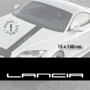 Lancia car hood decal strip