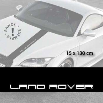 Stickers bandes autocollantes Capot Land Rover