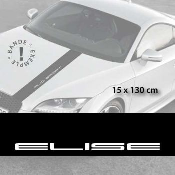 Stickers bandes autocollantes Capot Lotus Elise