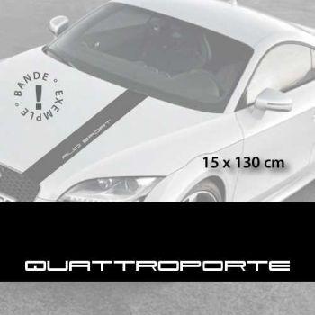 Maserati Quattroporte car hood decal strip