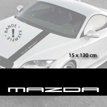 Stickers bandes autocollantes Capot Mazda