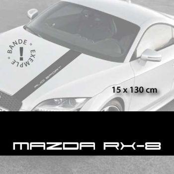Stickers bandes autocollantes Capot Mazda RX-8