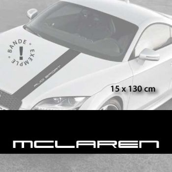 Mclaren car hood decal strip