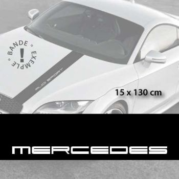Mercedes car hood decal strip