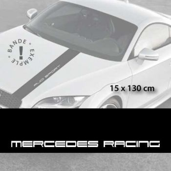 Mercedes Racing car hood decal strip