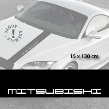 Mitsubishi car hood decal strip
